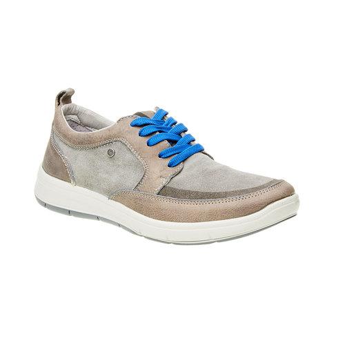 Scarpe da passeggio da uomo bata-tech, grigio, 843-2631 - 13
