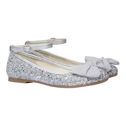 Ballerine da ragazza con glitter mini-b, grigio, 329-2177 - 26