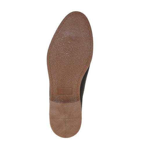Scarpe basse di pelle in stile Derby bata, viola, 824-9745 - 26