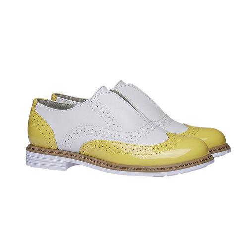 Scarpe basse da bambino in stile Spectator shoes mini-b, giallo, 321-8178 - 26