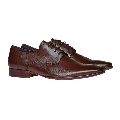Scarpe basse di pelle in stile Derby bata, marrone, 824-4536 - 26