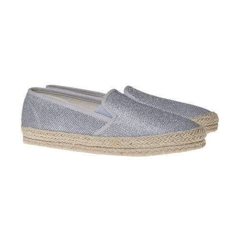 Slip-on argentate da donna bata, bianco, 559-1107 - 26