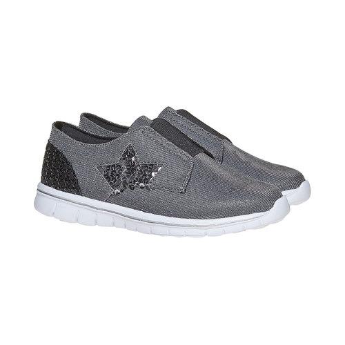 Sneakers argentate da ragazza mini-b, argento, 329-6214 - 26