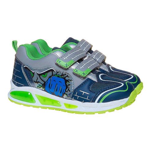 Sneakers da bambino con stampa mini-b, blu, 211-9170 - 26