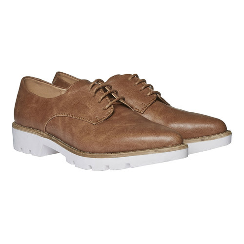 Scarpe basse con suola appariscente bata, marrone, 521-3480 - 26
