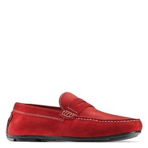 Mocassini di pelle bata, rosso, 853-5180 - 13