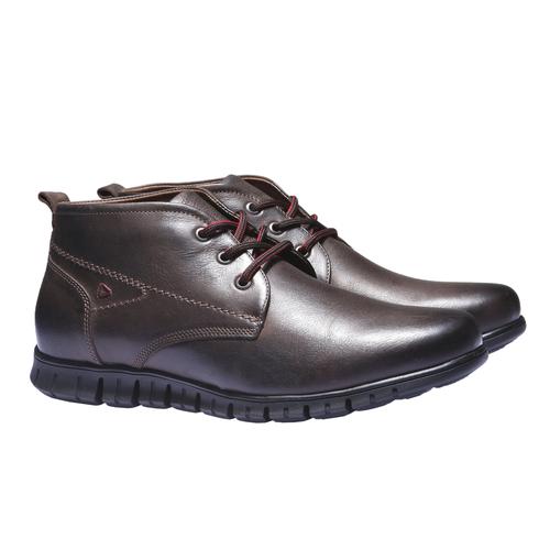 Sneakers in pelle informali bata, marrone, 894-4191 - 26
