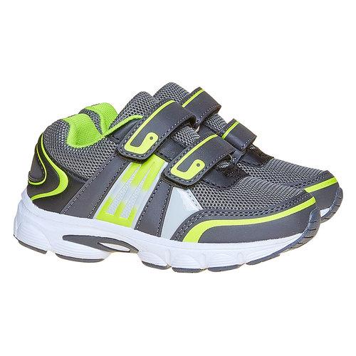 Sneakers da bambino con chiusure a velcro mini-b, grigio, 219-2167 - 26