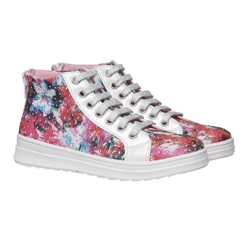 Sneakers alla caviglia con strass mini-b, 329-0184 - 26