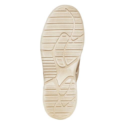 Scarpe di pelle alla caviglia weinbrenner, beige, 896-2442 - 26