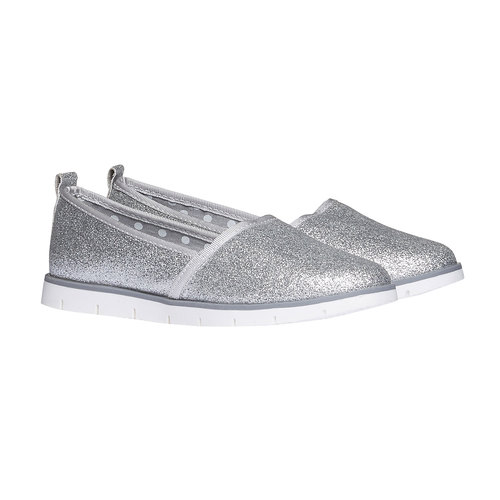 Slip-on da bambina con glitter mini-b, bianco, 329-1163 - 26