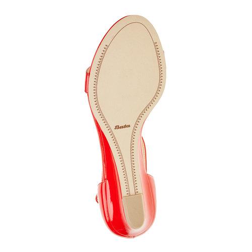 Sandali rossi da donna con cinturino sul collo del piede bata, rosso, 561-5407 - 26