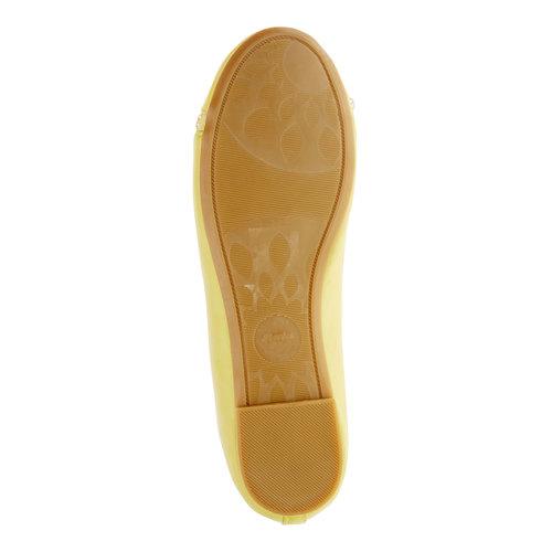 Ballerine gialle con cinturino mini-b, giallo, 321-8181 - 26