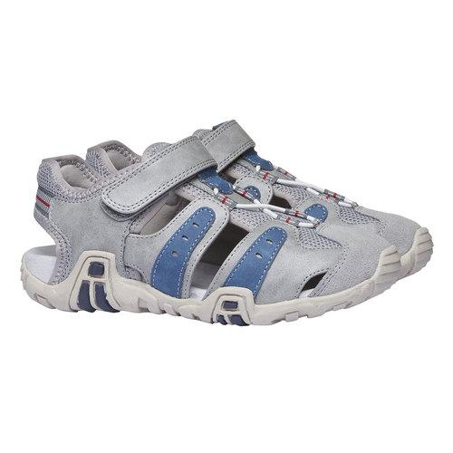 Sandali da bambino con punta chiusa mini-b, grigio, 361-2173 - 26