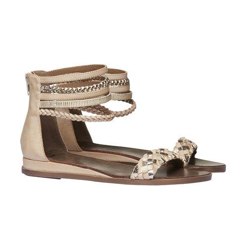 Sandali con cinturini attorno alla caviglia bata, beige, 561-8298 - 26