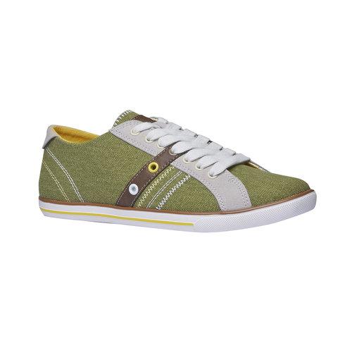 Sneakers informali da uomo bata, verde, 849-7663 - 13