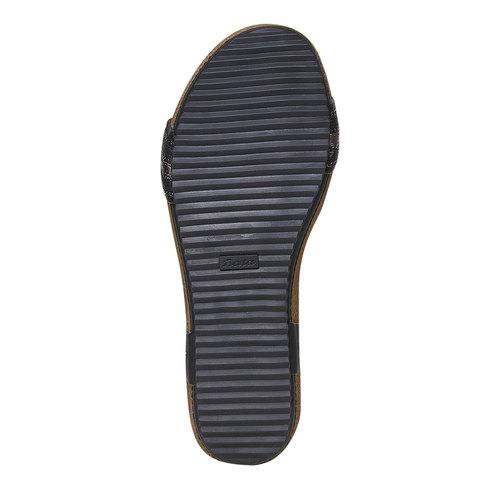 Sandali da donna dalla suola appariscente bata, nero, 561-6404 - 26