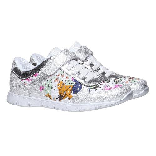 Sneakers da bambino con fiorellini mini-b, bianco, 329-1174 - 26