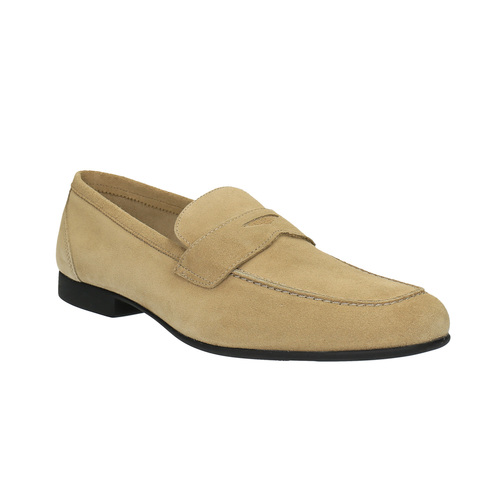 Mocassini da uomo in pelle flexible, beige, 853-8186 - 13