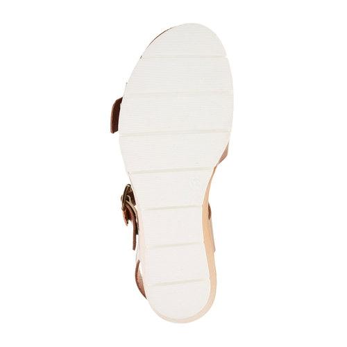 Sandali da donna con strisce weinbrenner, marrone, 664-4193 - 26