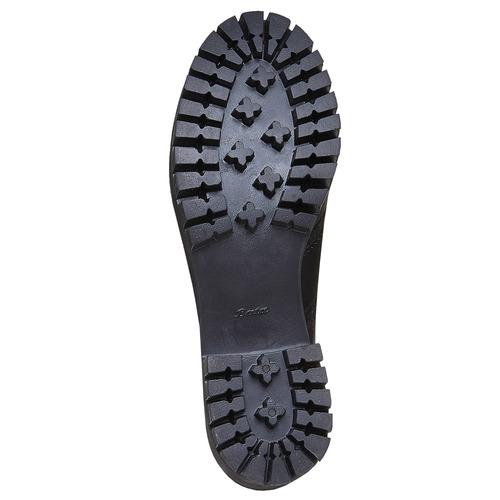 Scarpe basse da donna in pelle bata, nero, 524-6165 - 26