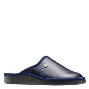 Pantofole da uomo con punta chiusa bata, blu, 871-9304 - 13