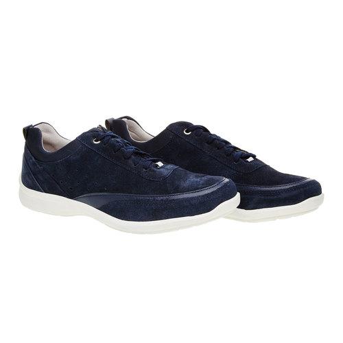 Sneakers informali di pelle bata-comfit, blu, 843-9643 - 26