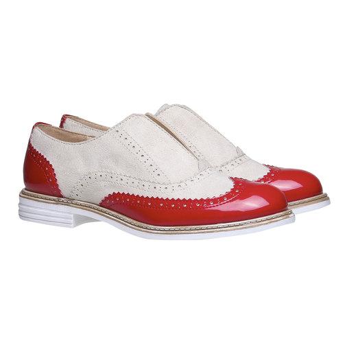 Scarpe basse da donna con decorazione bata, rosso, 519-5213 - 26