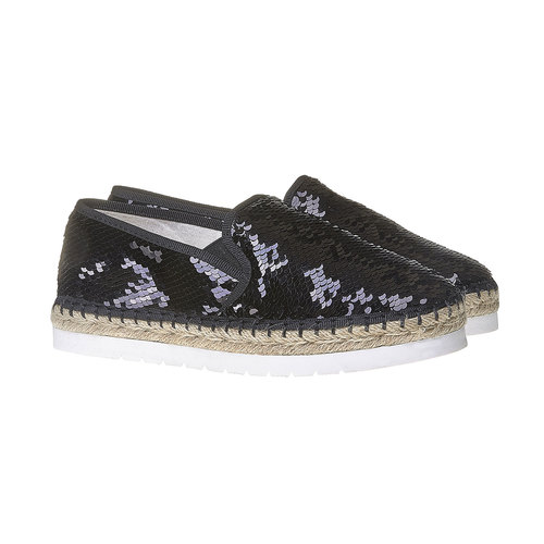 Slip-on da donna con paillettes bata, nero, 559-6102 - 26