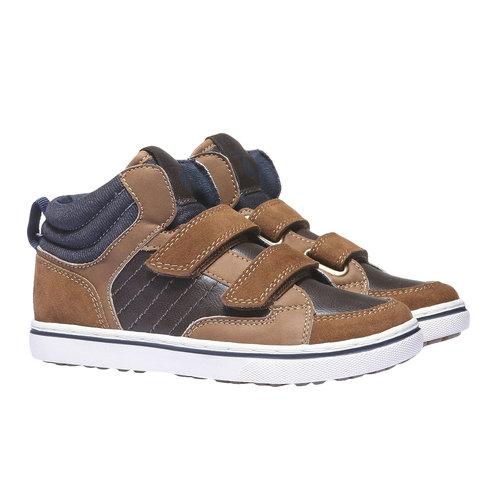 Sneakers da bambino alla caviglia mini-b, giallo, 311-8131 - 26