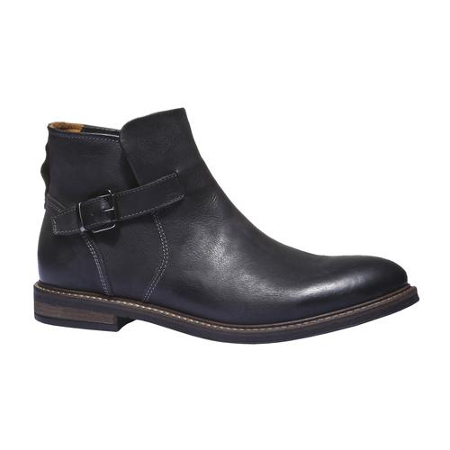 Scarpe di pelle alla caviglia. bata, nero, 894-6107 - 13