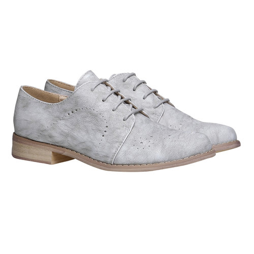 Scarpe basse da donna bata, grigio, 521-2477 - 26