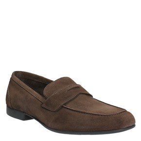 Mocassini da uomo in pelle flexible, marrone, 853-4186 - 13