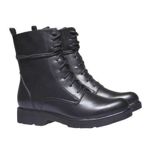 Scarpe da donna alla caviglia bata, nero, 591-6247 - 26