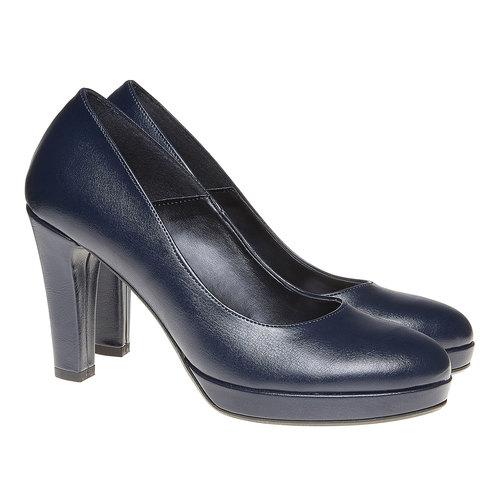 Décolleté eleganti da donna bata, blu, 721-9517 - 26