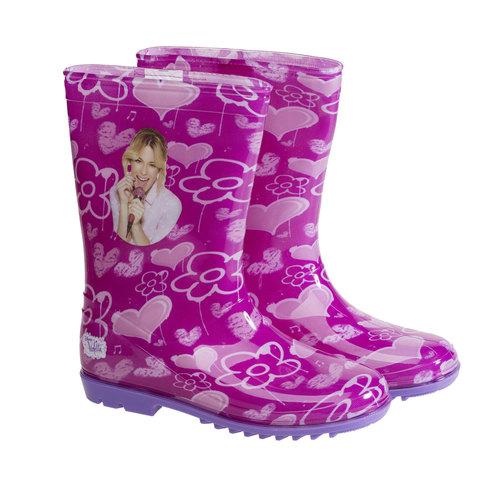 Stivali di gomma da bambino con fiori violetta, viola, 392-9189 - 26
