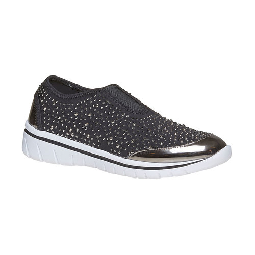 Sneakers slip-on con strass north-star, grigio, 539-2109 - 13