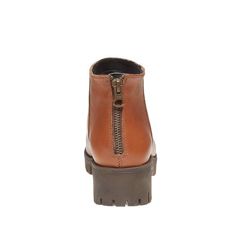 Scarpe in pelle alla caviglia con suola massiccia bata, marrone, 694-3158 - 17