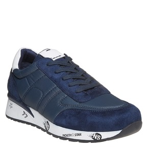 Sneakers informali da uomo north-star, blu, 849-9501 - 13