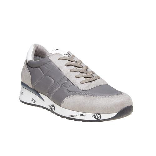 Sneakers eleganti da uomo north-star, grigio, 849-2501 - 13
