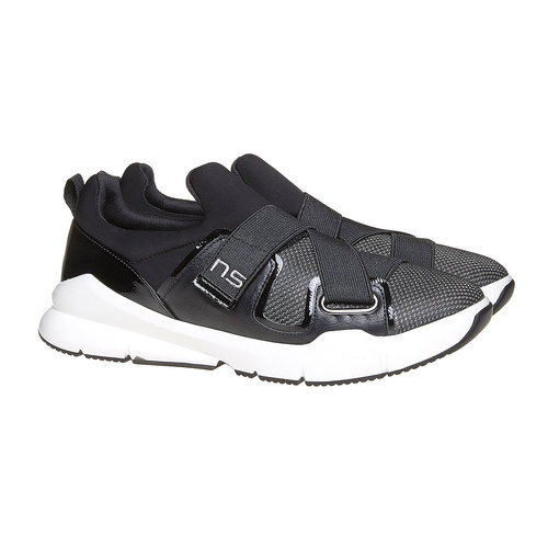Sneakers eleganti con strisce elastiche north-star, nero, 549-6140 - 26