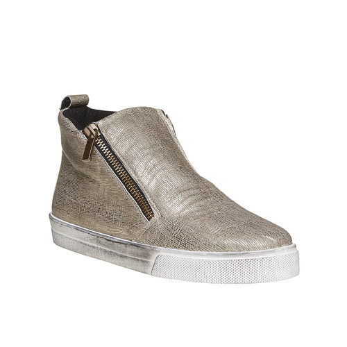 Slip-on alla caviglia con motivo metallizzato north-star, oro, 541-8264 - 13