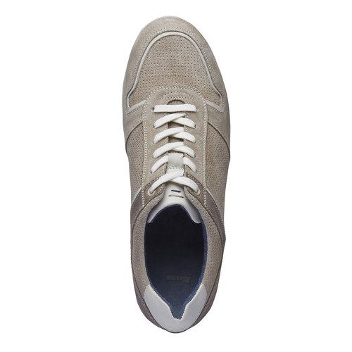 Sneakers informali di pelle bata, giallo, 843-8637 - 19