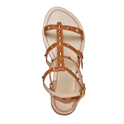 Scarpe da donna con borchie decorative bata, marrone, 561-3296 - 19
