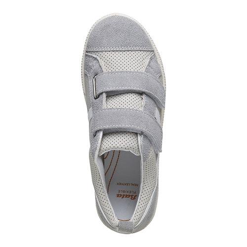 Sneakers da bambino con perforazioni flexible, grigio, 311-2217 - 19