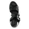 Sandali di pelle con tacco a zeppa sundrops, nero, 564-6400 - 19