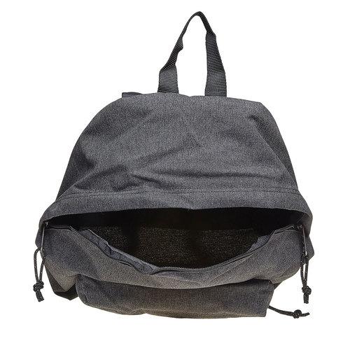 Zaino in tessuto di colore grigio eastpack, nero, 999-6647 - 19