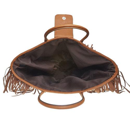 Borsetta Shopper con frange bata, marrone, 969-3449 - 15