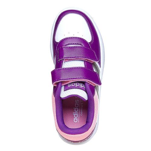 Sneakers da bambina con chiusure a velcro adidas, viola, bianco, 301-1167 - 19