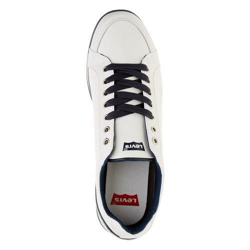 Sneakers da uomo in pelle levis, bianco, 844-1509 - 19